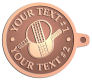 Ace Recognition Copper KeyTag - with your text and logo - ping pong, paddles, table tennis