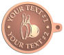 Ace Recognition Copper KeyTag - with your text and logo - bowling, bowling pins, bowling balls, bowling-ball, games,  kingpin, lane, leisure, pins, sport
