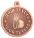 Ace Recognition Copper KeyTag, Medal, Pendant - with your text and logo - bowling, bowling pins, bowling balls, bowling-ball, games,  kingpin, lane, leisure, pins, sport