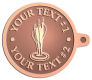 Ace Recognition Copper KeyTag - with your text and logo - darts, archery, arrows, bullseye, fun, games, success, targets, triumph, win, leisure, luck, mark, success, target, triumph, win