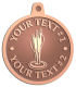 Ace Recognition Copper KeyTag, Medal, Pendant - with your text and logo - darts, archery, arrows, bullseye, fun, games, success, targets, triumph, win, leisure, luck, mark, success, target, triumph, win