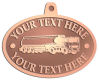 Ace Recognition Copper KeyTag, Medal, Pendant - with your text and logo - tanker trucks, tank trucks, truck tankers, truck tanks, carriers, haulers, transportation