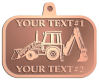 Ace Recognition Copper KeyTag, Medal, Pendant - with your text and logo - front loaders, excavators, back hoes, backhoes, loaders, trenchers, excavators, excavating, equipment, diggers