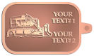 Ace Recognition Copper KeyTag - with your text and logo - bulldozer, constructions, dozer, earth, equipment, heavy, machine, mover, soil, tracks