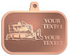 Ace Recognition Copper KeyTag, Medal, Pendant - with your text and logo - bulldozer, constructions, dozer, earth, equipment, heavy, machine, mover, soil, tracks