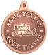 Ace Recognition Copper KeyTag, Medal, Pendant - with your text and logo - asphalt paving machine, paver, roller, machinery, equipment, heavy, steam rollers, steamrollers, drum compactors