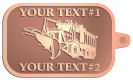 Ace Recognition Copper KeyTag - with your text and logo - snow plows, plows, snow removal, road equipment, heavy equipment