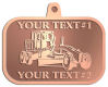 Ace Recognition Copper KeyTag, Medal, Pendant - with your text and logo - graders, machinery, road equipment, heavy equipment, highway maintenance