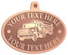 Ace Recognition Copper KeyTag, Medal, Pendant - with your text and logo - logging equipment, logging truck, trucking, cargo, industry, logging, truck, lumber