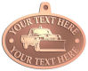 Ace Recognition Copper KeyTag, Medal, Pendant - with your text and logo - snow removal, truck, plow, pick up, pick-up, snow plow