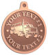 Ace Recognition Copper KeyTag, Medal, Pendant - with your text and logo - tanker trucks, tank trucks, truck tankers, truck tanks, carriers, haulers, transportationvvvvvv