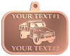 Ace Recognition Copper KeyTag, Medal, Pendant - with your text and logo - dump truck, road construction, machinery, heavy equipment, transportation