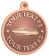 Ace Recognition Copper KeyTag, Medal, Pendant - with your text and logo - boats, recreation, speed boat, motorboat, motor boat, watercraft