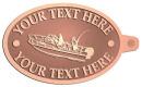 Ace Recognition Copper KeyTag - with your text and logo - boats, watercraft, water craft, fishing boats, fishing, pleasure boats, pleasure craft