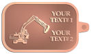 Ace Recognition Copper KeyTag - with your text and logo - diggers, excavators, excavation, excavation equipment, excavation machines, excavation machinery, digger tractors, crawler excavators
