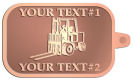 Ace Recognition Copper KeyTag - with your text and logo - forklifts, fork lifts, reach trucks, lift trucks, hoist trucks, industrial vehicles