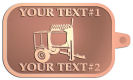 Ace Recognition Copper KeyTag - with your text and logo - cement mixers, concrete mixers, masonry mixers, concrete, mortar