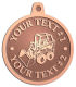 Ace Recognition Copper KeyTag, Medal, Pendant - with your text and logo - bucket front loaders, wheel loaders, machinery , loaders, excavators, bulldozers