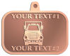 Ace Recognition Copper KeyTag, Medal, Pendant - with your text and logo - cube truck, delivery vans, panel trucks, trucks, transport trucks, delivery vehicles, transportation