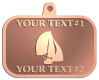 Ace Recognition Copper KeyTag, Medal, Pendant - with your text and logo - catboat, daggerboard, sailboats, sail boat, sailing ships, sailing boats, sails, sailing-boats