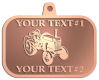Ace Recognition Copper KeyTag, Medal, Pendant - with your text and logo - tractors, farm equipment, farm machinery, farm machines, field implements, farm implements