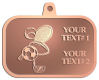 Ace Recognition Copper KeyTag, Medal, Pendant - with your text and logo - .
