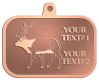Ace Recognition Copper KeyTag, Medal, Pendant - with your text and logo - Hunting, caribou, animals, antlers, bucks, bulls, caribou, male, mammals, moose, wild, wilderness, wildlife, woods, elk, nature