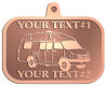 Ace Recognition Copper KeyTag, Medal, Pendant - with your text and logo - RV, RVs, Recreational Vehicles, campers, camping, motors, motor-homes, motorhomes, recreation, recreational, retire, retirement, tours, trailers, transportation, travel, travelers, trips, trucks, vacations, vans, vehicles, voyages, wheels