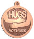 Ace Recognition Copper KeyTag, Medal, Pendant - with your text and logo - recovery, drug recovery, drugs, hugs not drugs