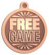 Ace Recognition Copper KeyTag, Medal, Pendant - with your text and logo - free, tokens, games, free games, game tokens