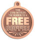 Ace Recognition Copper KeyTag, Medal, Pendant - with your text and logo - free, tokens, free tokens, free coffee, coffee, coffee tokens