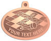 Ace Recognition Copper KeyTag, Medal, Pendant - with your text and logo - crossword puzzles, recreation, challenge, brainstorming, word puzzles, ability, activity, brainteasers, clues, newspapers, vocabulary, quiz, spelling, competition, contemplation, mental