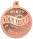 Ace Recognition Copper KeyTag, Medal, Pendant - with your text and logo - athletes, athletics, cause, charity, city, compete, competition, exercise,  health, healthy, international, jog, life, lifestyle, people, races, sports, fun run