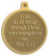 Ace Recognition Gold KeyTag, Medal, Pendant - with your text and logo - Christian Designs - I can do all things through Christ who strengthens me.  Philippians 4:13  religious, metal