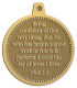Ace Recognition Gold KeyTag, Medal, Pendant - with your text and logo - Christian Designs - Being confident of this very thing, that he which hath begun a good work in you will perform it until the day of Jesus Christ.  Philippians 1:6  religious