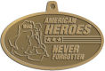 Ace Recognition Gold KeyTag, Medal, Pendant - with your text and logo - Military - Fallen Soldier Memorial - Iraq - American Flag - American Heroes - Never Forgotten, metal, navy