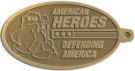 Ace Recognition Gold KeyTag - with your text and logo - Military - Fallen Soldier Memorial - Iraq - American Flag - American Heroes - Defending America, metal, navy