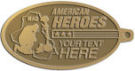 Ace Recognition Gold KeyTag - with your text and logo - Military - Fallen Soldier Memorial - Iraq - American Flag - American Heroes, metal, navy