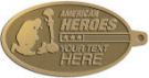 Ace Recognition Gold KeyTag - with your text and logo - Military - American Heroes - Fallen Soldier memorial - American Flag, metal, navy