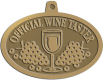 Ace Recognition Gold KeyTag, Medal, Pendant - with your text and logo - Winery, sommelier, wine glasses, grapes, alcohol, beverages, celebrations, cellars, classical, corks, drinks, food, fruit, goblets, grapes, grapevines, restaurant, romantic, tavern, vintage, vine, wine tasting, wine-testers, wine testers