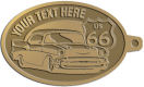 Ace Recognition Gold KeyTag - with your text and logo - Car designs - US route 66 - vintage cars - classic cars - coupe - your text, route 66, route sixty six, route sixty-six, historic highway, historic road, mother road, transportation