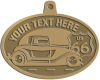 Ace Recognition Gold KeyTag, Medal, Pendant - with your text and logo - Car designs - US route 66 - vintage cars - classic cars - truck - pickup - your text, route 66, route sixty six, route sixty-six, historic highway, historic road, mother road, transportation