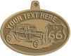 Ace Recognition Gold KeyTag, Medal, Pendant - with your text and logo - Car designs - US route 66 - vintage cars - classic cars - roadster - your text, route 66, route sixty six, route sixty-six, historic highway, historic road, mother road, transportation, transportation