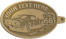 Ace Recognition Gold KeyTag - with your text and logo - Car designs - US route 66 - vintage cars - classic cars - sports car - your text, route 66, route sixty six, route sixty-six, historic highway, historic road, mother road, transportation