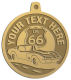 Ace Recognition Gold KeyTag, Medal, Pendant - with your text and logo - Car Designs - classic car - US route 66 - corvette - vintage cars - your text, route 66, route sixty six, route sixty-six, historic highway, historic road, mother road, transportation