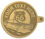 Ace Recognition Gold KeyTag - with your text and logo - Car Designs - US route 66 - classic car - sports car - vintage car - your text, route 66, route sixty six, route sixty-six, historic highway, historic road, mother road, transportation