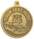Ace Recognition Gold KeyTag, Medal, Pendant - with your text and logo - Car Designs - US route 66 - classic car - hot rod - sports car - vintage car - your text, route 66, route sixty six, route sixty-six, historic highway, historic road, mother road