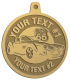 Ace Recognition Gold KeyTag, Medal, Pendant - with your text and logo - Car Designs - US route 66 - classic car - roadster - vintage cars - sports car - your text, transportation, metal