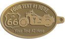 Ace Recognition Gold KeyTag - with your text and logo - Motorcycle Designs - US 66 - route 66 -   chopper, motorcycle - your text, motorcycles, motor bikes, racing, motor, motorsports, motor-sports, transportation, metal