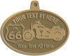 Ace Recognition Gold KeyTag, Medal, Pendant - with your text and logo - Motorcycle Designs - US 66 - route 66 -   chopper, motorcycle - your text, motorcycles, motor bikes, racing, motor, motorsports, motor-sports, transportation, metal